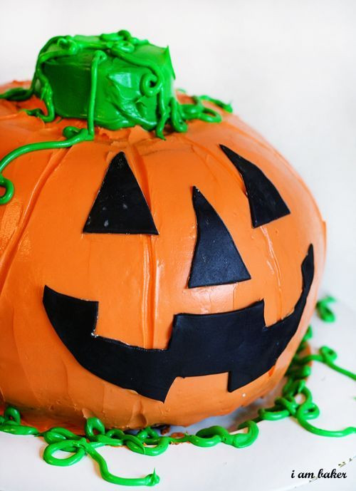 Halloween Pumpkin Cake  42 best images about Jack O Lanternz on Pinterest