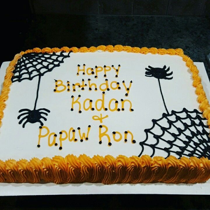 Halloween Sheet Cake  Halloween cake Cakes Pinterest