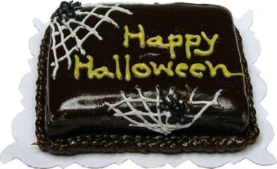Halloween Sheet Cake  Happy Halloween Cobweb Sheet Cake [BD K2310] $9 50