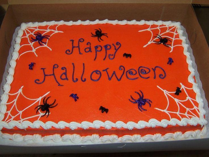 Halloween Sheet Cake  Best 25 Sheet cake designs ideas on Pinterest