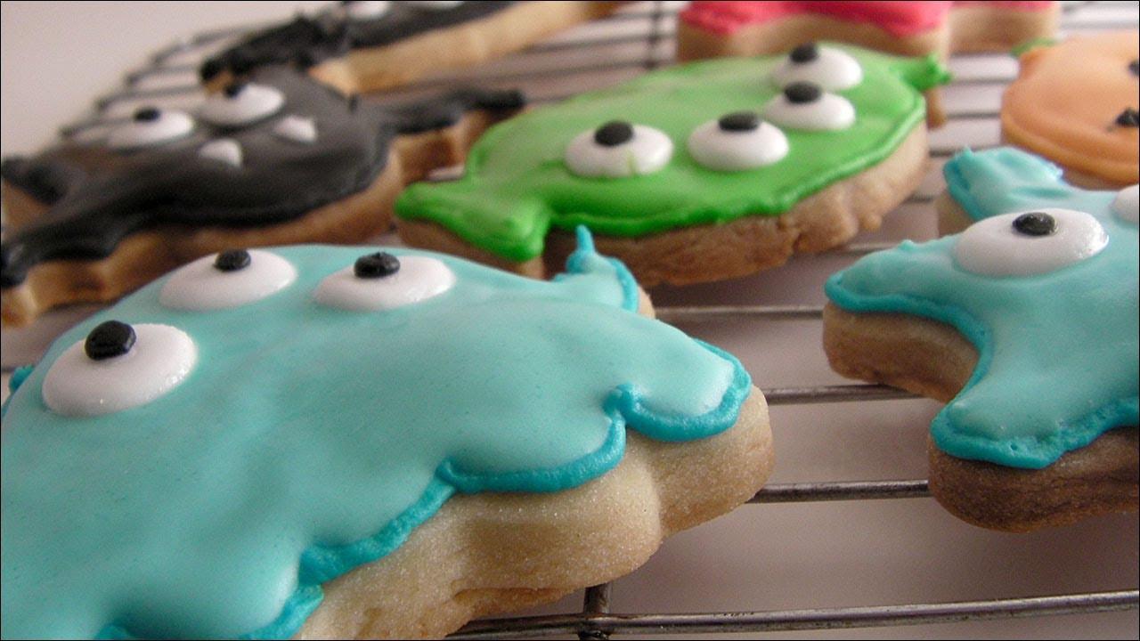 Halloween Shortbread Cookies  Halloween Shortbread Cookies Decorated with Flood Icing