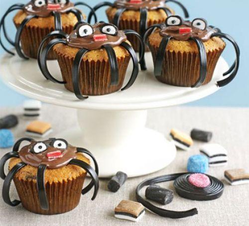 Halloween Spider Cakes  Spooky spider cakes recipe