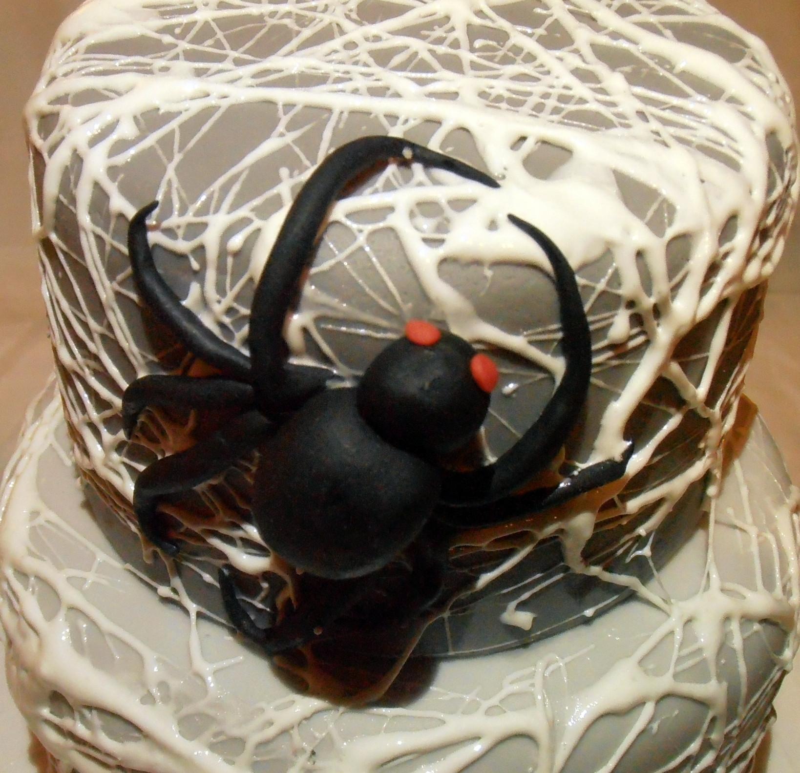 Halloween Spider Cakes  Halloween Spider Web Cake
