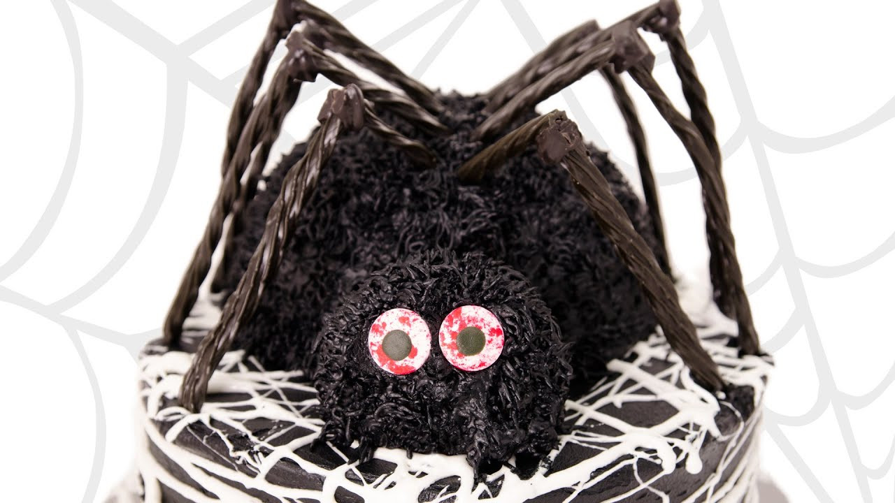 Halloween Spider Cakes  3D Spider Cake Halloween Cake from Cookies Cupcakes and