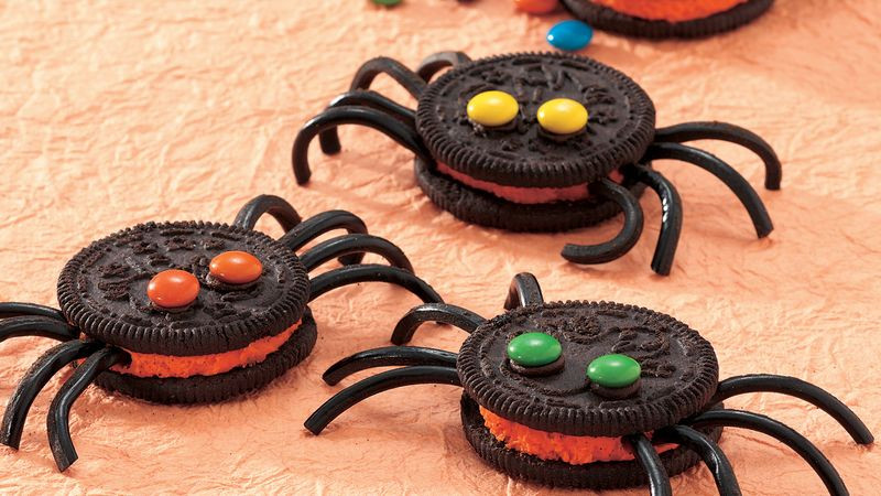 Halloween Spider Cookies  Spooky Spider Cookies recipe from Betty Crocker