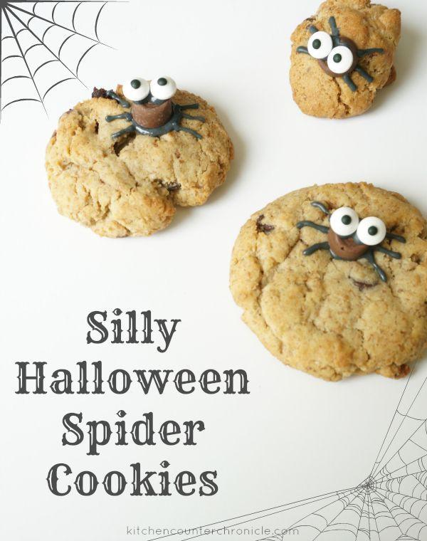 Halloween Spider Cookies  Silly Halloween Spider Cookies