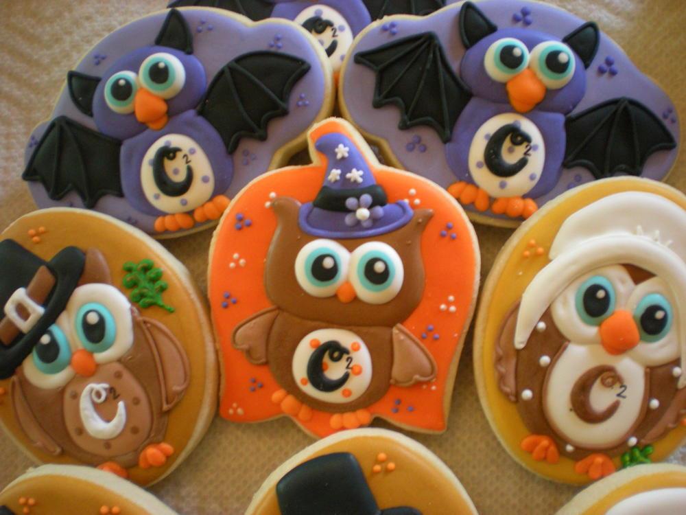 Halloween Themed Cookies  Halloween Fall Themed Owl Cookies