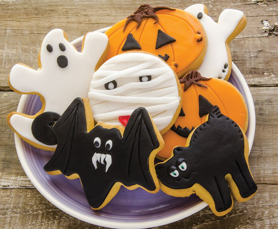 Halloween Themed Cookies  Halloween Themed Frosted Sugar Cookies Recipe Food and