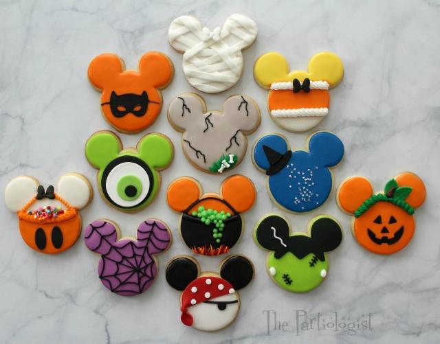Halloween Themed Cookies  The Partiologist Disney Themed Halloween Cookies
