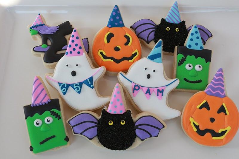 Halloween Themed Cookies  Jaclyn s Cookies Halloween Birthday Cookies