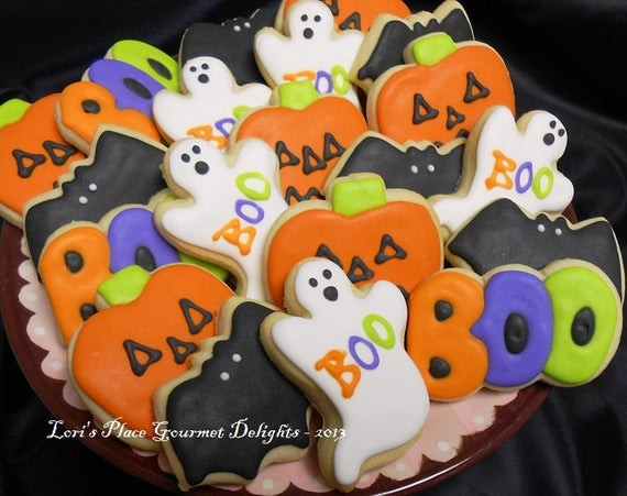Halloween Themed Cookies  Decorated Mini Mix Halloween Decorated Cookies Ghosts