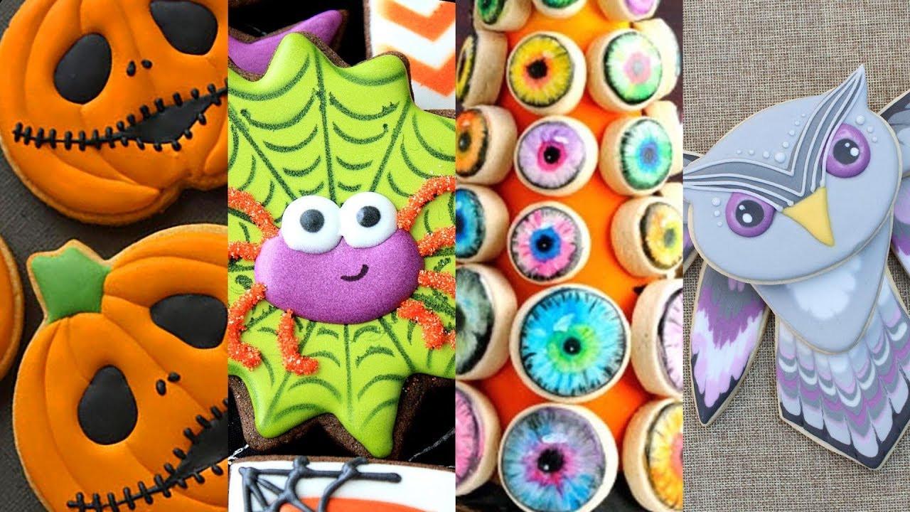 Halloween Themed Cookies  BEST HALLOWEEN COOKIES Cookie Decorating Video