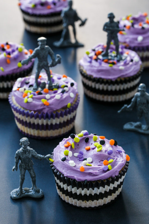 Halloween Themed Cupcakes  Halloween Confetti Cupcakes