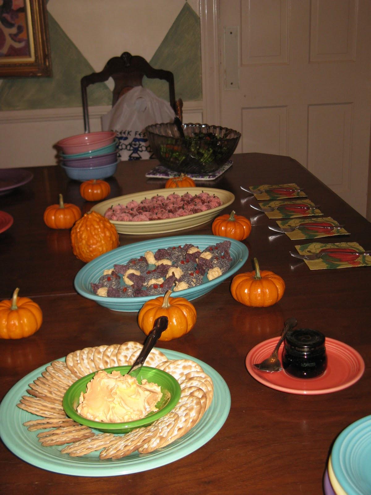 Halloween Themed Dinner  The Expressive Figures Janet Bodin October 2010
