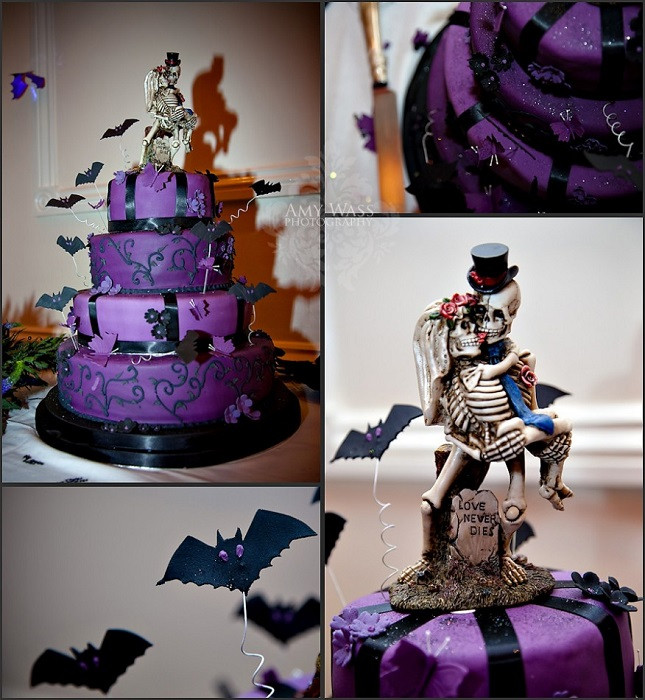 Halloween Wedding Cakes Ideas  Wedding Trends Halloween and Fall Wedding Themes