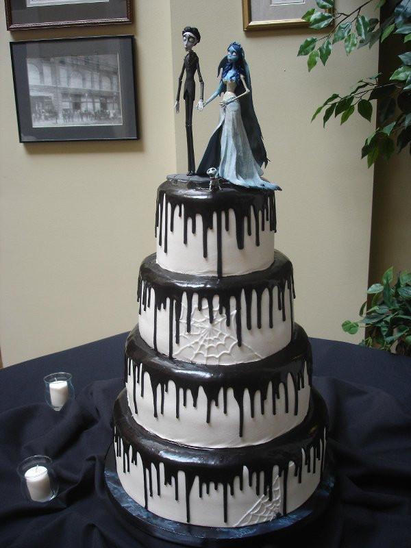 Halloween Wedding Cakes Ideas  Halloween Themed Wedding Cakes