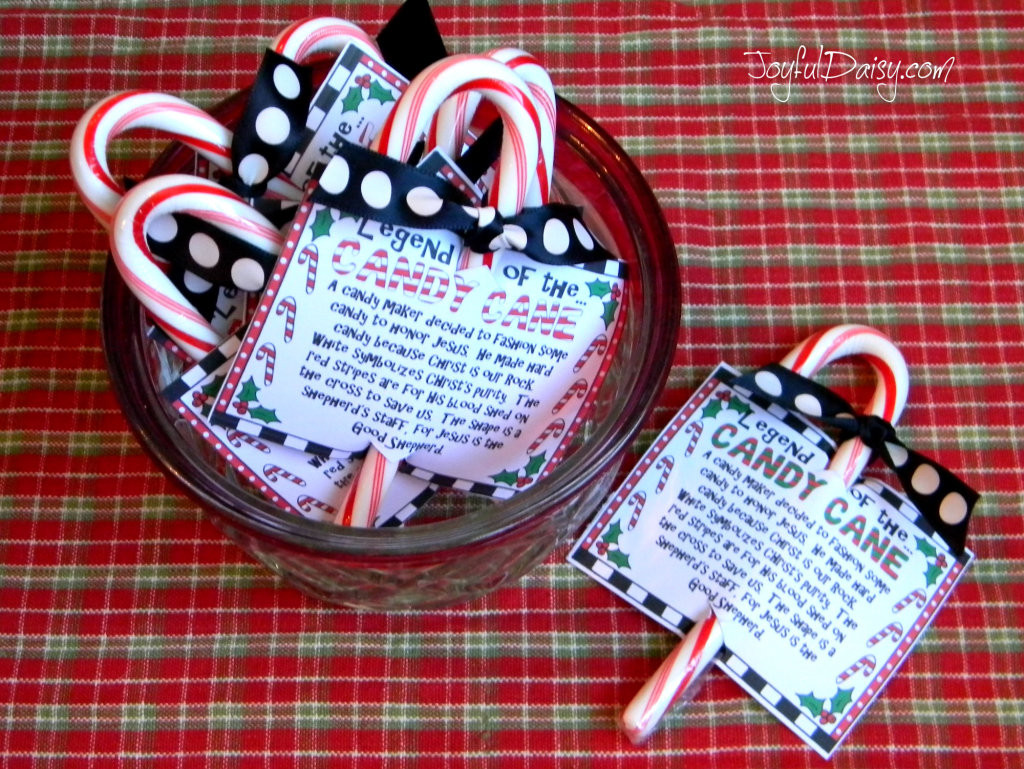 Hard Candy Christmas Meaning  Legend of the Candy Cane Crafts JOYFUL DAISY