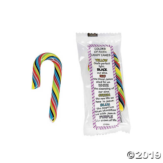 Hard Candy Christmas Meaning  Mini Colors of Faith Candy Canes