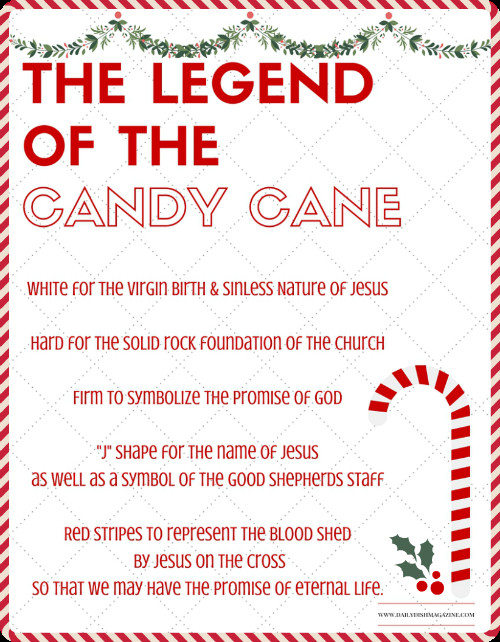 Hard Candy Christmas Meaning  The Legend of the Candy Cane Free Printable and a