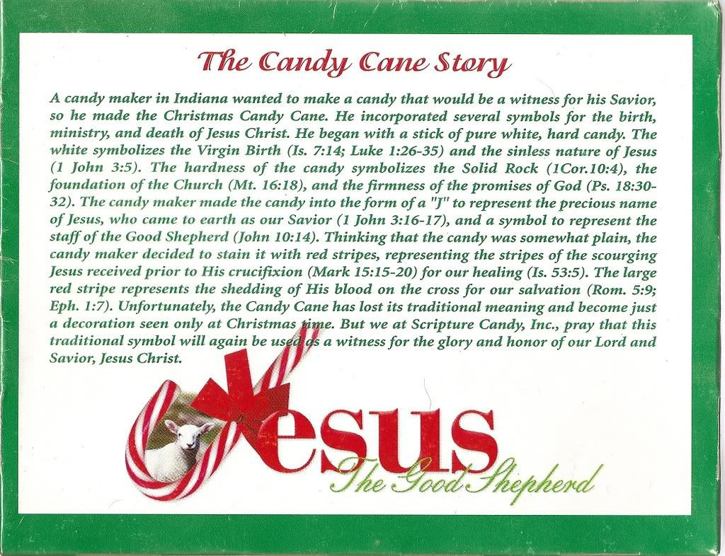 Hard Candy Christmas Meaning  The Candy Cane Bible Legend