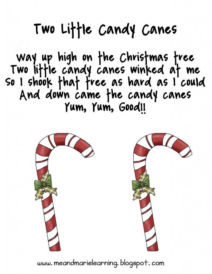 Hard Candy Christmas Meaning  Two little candy canes finger play