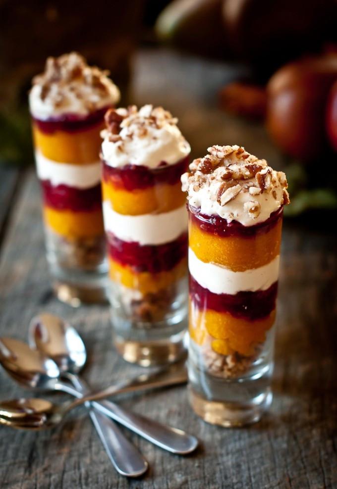 Healthy Christmas Desserts  Ginger Pumpkin Cranberry Parfait Shot – Healthy Christmas