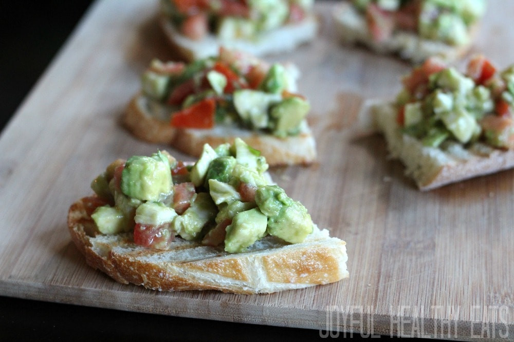 Healthy Fall Appetizers  Avocado Crostini Healthy Appetizers