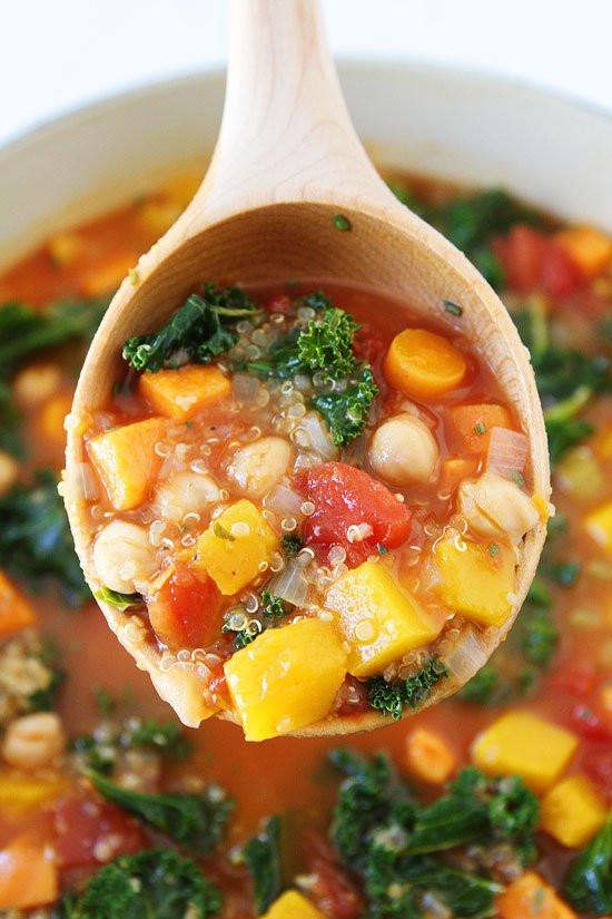 Healthy Fall Soups  Fall Ve able Quinoa Soup Recipe