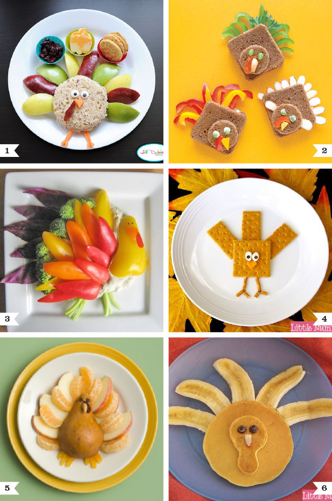 """Healthy Thanksgiving Treats  Healthy """"turkey"""" snacks and meals for kids"""