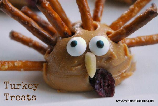 Healthy Thanksgiving Treats  Turkey Treats Giving Thanks Pinterest