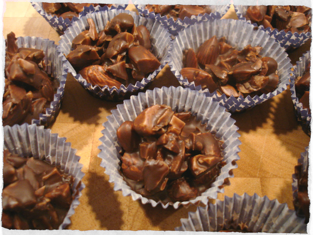Homemade Christmas Candy  Holiday candy – chocolate coconut almonds