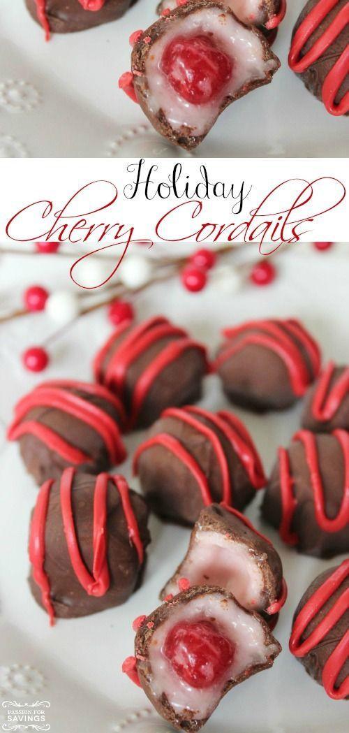 Homemade Christmas Desserts  Easy Homemade Cherry Cordails Recipe Love this Easy