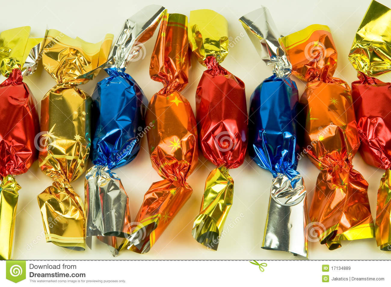 Hungarian Christmas Candy  Colorful Christmas Can s Royalty Free Stock