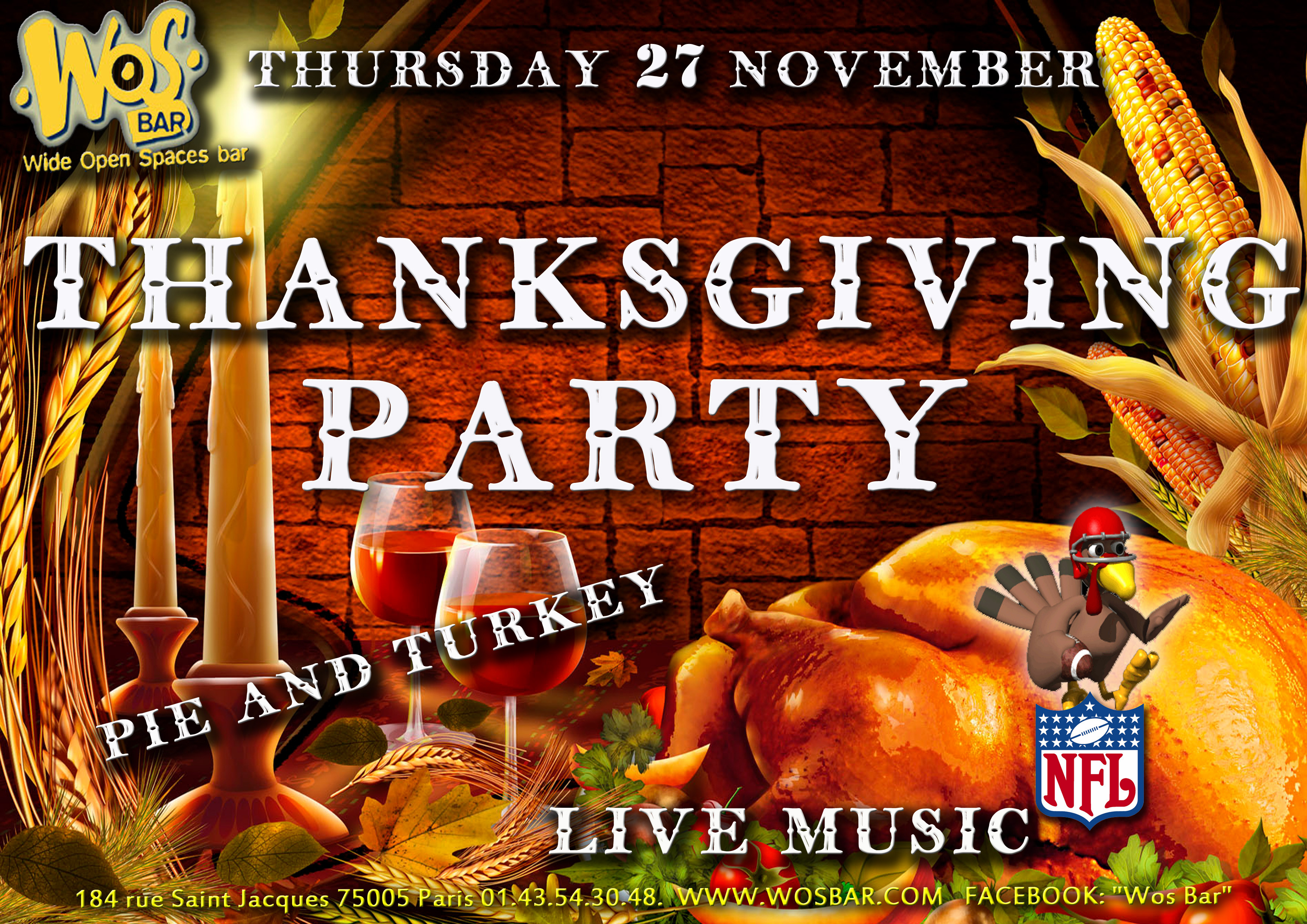 I Will Survive Thanksgiving Turkey Song  live music – WOS Bar