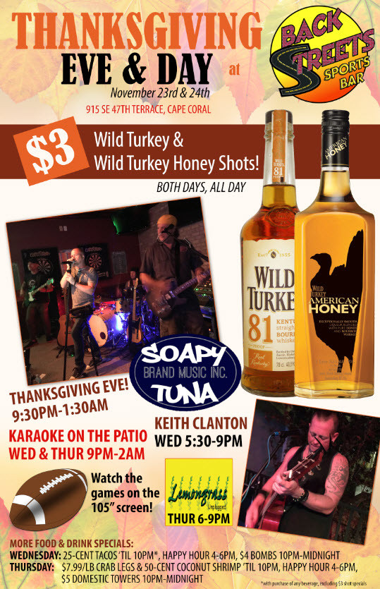 I Will Survive Thanksgiving Turkey Song  Thanksgiving Day Live Music Karaoke Specials & More