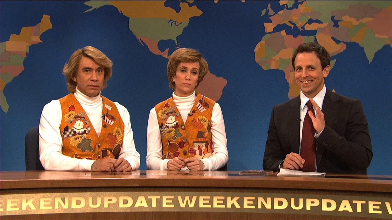 I Will Survive Thanksgiving Turkey Song  Watch Weekend Update Garth and Kat Sing Thanksgiving