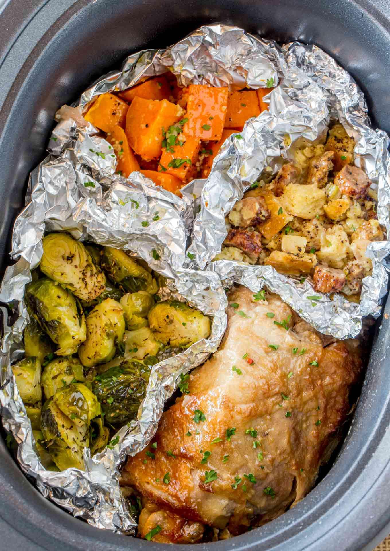 Idea For Thanksgiving Dinner  Slow Cooker Thanksgiving Dinner for 2 Dinner then