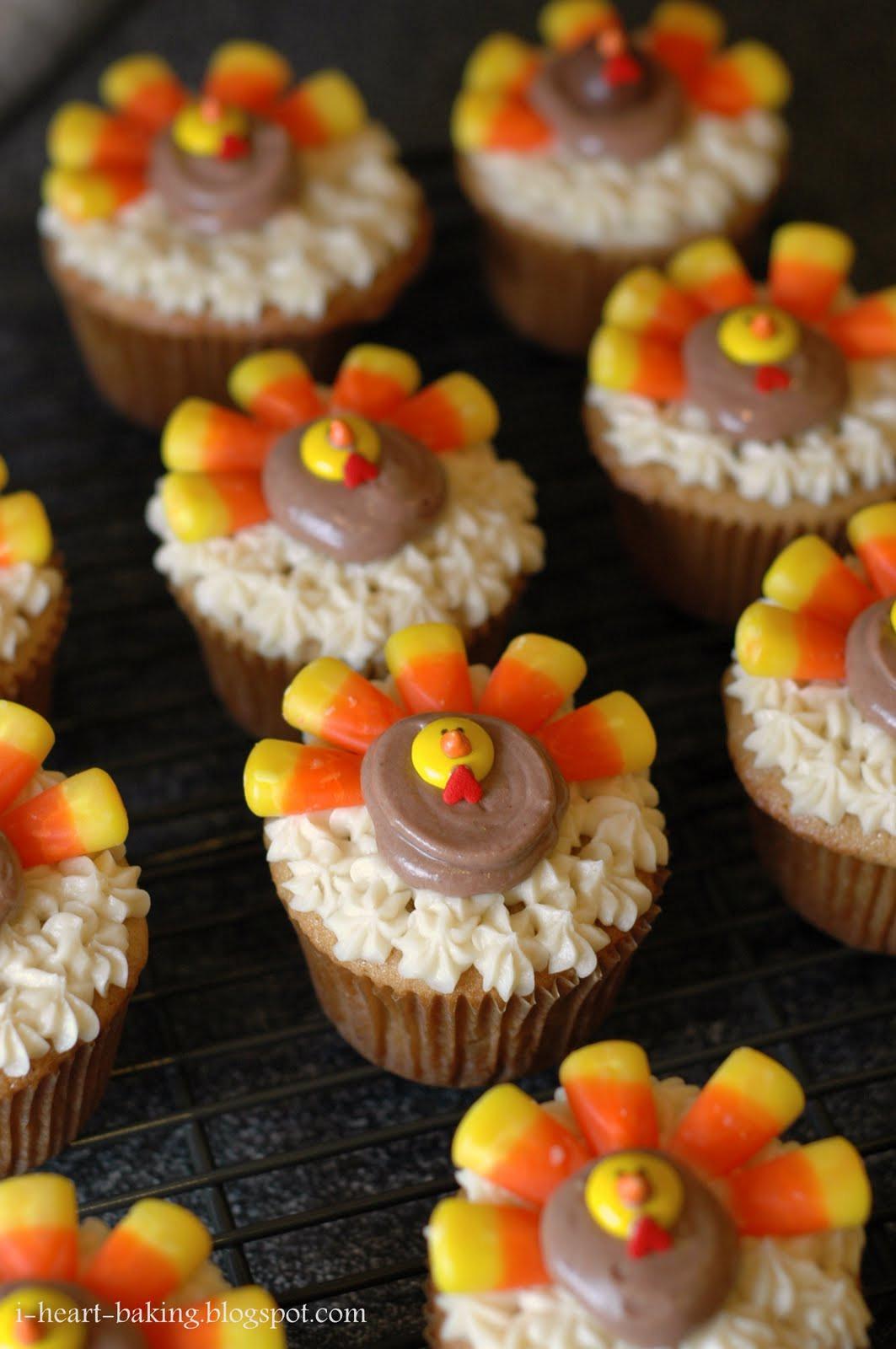Ideas For Thanksgiving Desserts  i heart baking thanksgiving turkey cupcakes brown