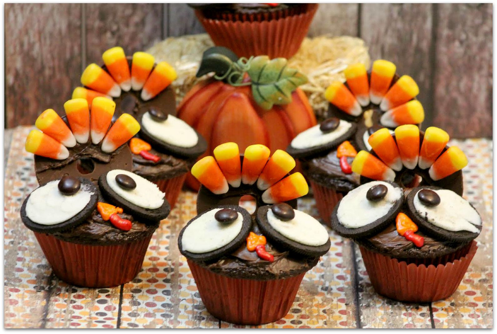 Ideas For Thanksgiving Desserts  Thanksgiving Turkey Cupcakes Food Fun & Faraway Places