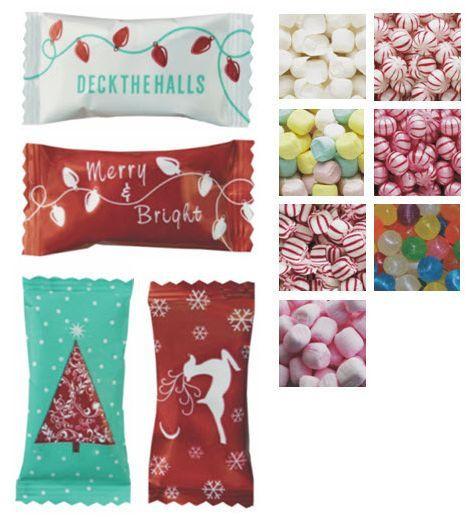 Individually Wrapped Christmas Candy  Christmas Themed Individually Wrapped Mints & Can s