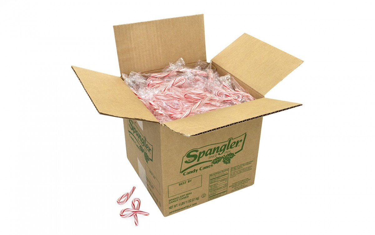 Individually Wrapped Christmas Candy  SPANGLER Individually Wrapped Mini Peppermint Candy Canes