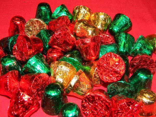 Individually Wrapped Christmas Candy  Foil Wrapped Chocolate Christmas Bells – Victoria s Can s