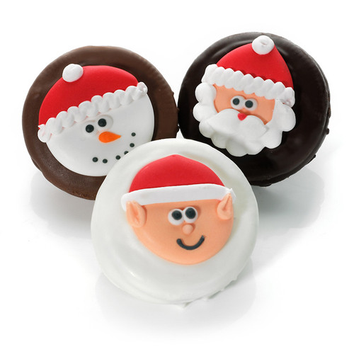 Individually Wrapped Christmas Cookies  Christmas Joy Chocolate Dipped & Decorated Oreos