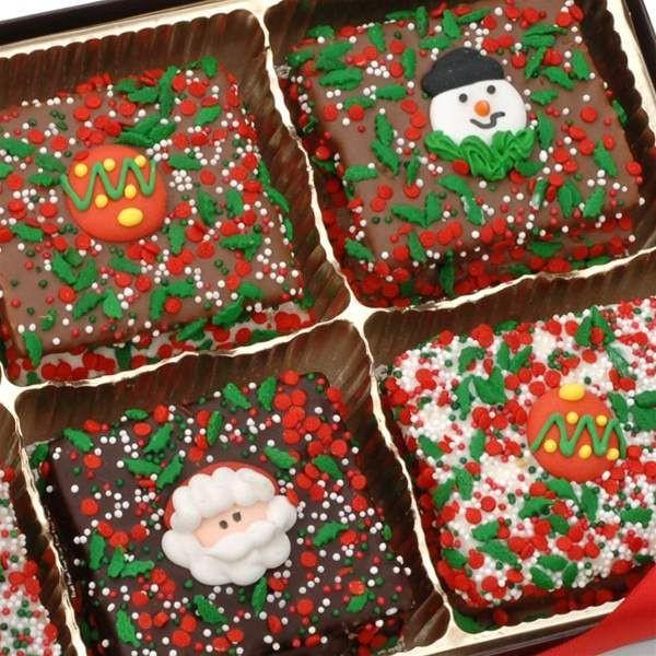 Individually Wrapped Christmas Cookies  Christmas Belgian Chocolate Graham Crackers Individually