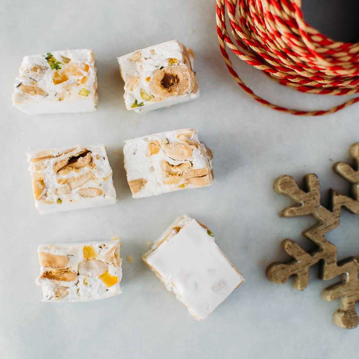 Italian Christmas Candy  Soft Torrone Italian Christmas Nougat Candy