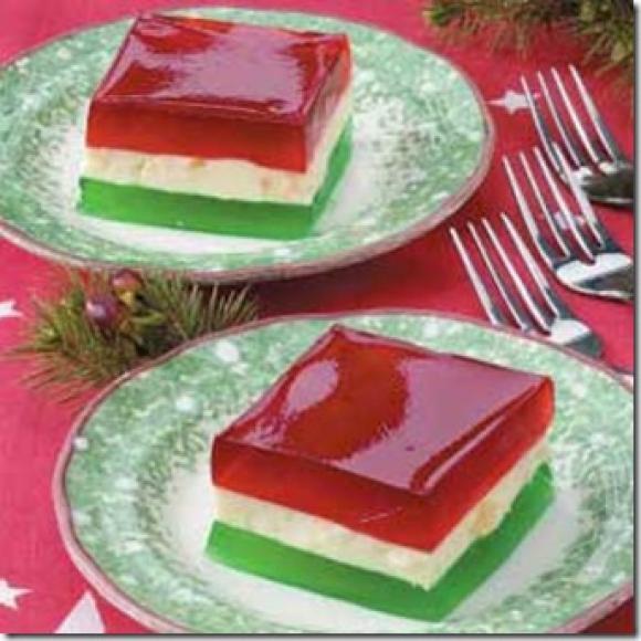 Jello Salads For Christmas  Peachtree Cooking Christmas Ribbon Jello Salad