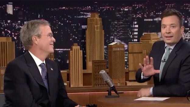 Jimmy Fallon Jeb Bush Guacamole  Jeb Bush and Jimmy Fallon Discuss George Bush s