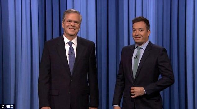 Jimmy Fallon Jeb Bush Guacamole  Jeb Bush starts presidential campaign on Tonight Show with