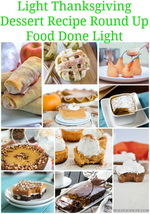 Lighter Thanksgiving Desserts  Healthy Thanksgiving Sides & Desserts Recipes Food Done