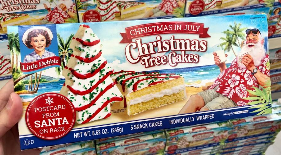 Little Debbie Christmas Cakes  Little Debbie Christmas Tree Cakes are available for